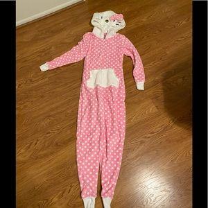 Hello Kitty Zip Up Hoodie Pajama
